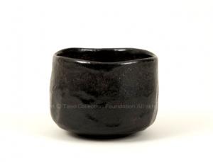 長次郎 黒茶碗 銘「西窓」
